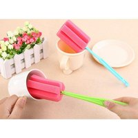 Home Cleaning Bottle Sponge Brush Glass Pot Washing Kitchen Cleaning-Tool Sponge Brush For Wineglass Bottle Coffe Tea Cup