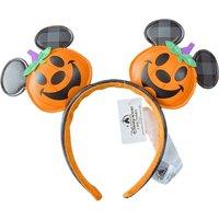 Disney Mickey Mouse Ear Headband PU 3D Cartoon Hair Hoop Sequin Bow Party Headwear Girl Toy Birthday Gift