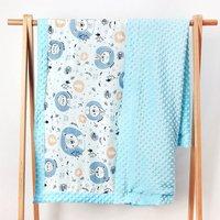 Dot Coral Fleece Gauze Baby Receiving Blanket Kids Swaddle Wrap Blanket Toddler Quilt Girl Blankets Infant Crib Warm Bedding