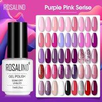 ROSALIND Gel Polish Macaron Gel Varnishes All For Manicure Soak Off UV Lamp Nails Art Semi Permanent Base Top Gel Nail Polish