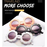 1pcs Vintage Kids Sunglasses Child Sun Glasses Round Flower Baby Children Sport Sunglasses Girls Boys