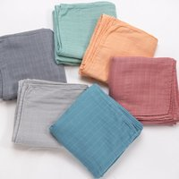 70% Bamboo 30% Cotton Baby Blanket Swaddle Wrap Sleepsack Soild Color Bath Towel Blanket Clothes For Newborn Baby Shower Gift