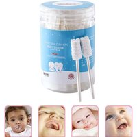 30Pcs Baby Tongue Cleaner Disposable Gauze Toothbrush Paper Rod Infant Oral Cleaning Stick Dental Care