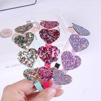 Fashion style 1Piece Rainbow Glitter Heart Hairband Kids Shiny Star Headband Party Hair Hoops for Girls Gift Hair Accessories
