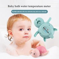 Cartoon Tortoise Baby Bath Thermometer Safe Temperature Sensor for Babies Floating Waterproof Shower Thermometer Infant Bath Toy