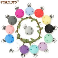 TYRY.HU Round Silicone Clip 1PC Of Pacifier Clip BPA-Free Silicone Dummy Baby Pacifier Chain DIY Accessories