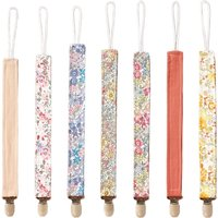 Cotton Linen Pacifier Clips Chain Dummy Holder Nipple Soother For Infant Baby Feeding Eco-friendly