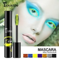 5g Rainbow Mascara Multi-color Quick Dry Synthetic 3D Fiber Lash Mascara for Party