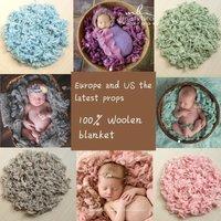 Newborn Photography Pure Wool Filler Cushion Blanket Background Props Studio Photos Aided Modeling Filler Basket Stuffer