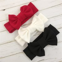 Baby Turban Headwraps Headband Newborn Bow Baby Girl Headbands Bandeau Bebe Fille White Hairband Toddler Fabric Knot Headwear