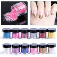 New Nail Art Silver Sequins Nail Glitter 10g Shinning Powder Nail Patch Decor Gradient Mixed Paillette DIY Manicure Beauty 2017