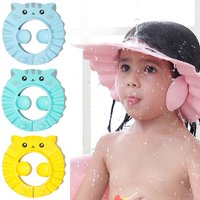Baby Kid Shampoo Shield Head Cover Shower Cap Hair Wash Ear Protection Infant Child Cartoon Bath Safe Cap Visor Bathing Protect