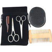 Beard Trimming Kit Beard Comb Set Double Beard Oil Head Shape Beard Comb Brush Care Beard Tool Beard Comb Set