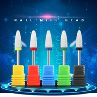 Ceramic Nail Drill Bits Portable Electric Nail File Acrylic Gel Nails Bit Cuticle Remover Tools for Manicure Pedicure