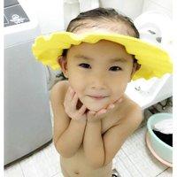 Baby Shampoo Cap Wash Hair Kids Bath Visor Hats Adjustable Shield Waterproof Ear Eye Children Soft Hats Infant
