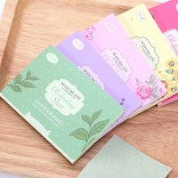 100 PCS Facial Oil Blotting Paper Face Oil Control Absorbing Film Blotting Paper Clean And Effective Cleaning Face Beauty Makeup