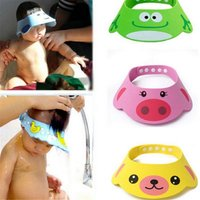 Toddler Kids Shampoo Bathing Shower Cap Wash Hair Shield Direct Adjustable Baby Shower Hat for Baby Care