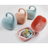 Portable pp baby pacifier box container dustproof elephant-shaped pacifier case holder nipple snack travel cart storage acc