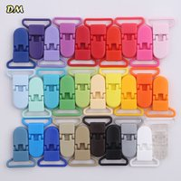 5pcs 25mm Plastic Baby Pacifier Chain Transparent Pacifier Clips Soother Holder For Baby Pacifier Nipples Holder Round Clamp