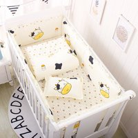 60*120cm Baby Crib Bumpers Infant Bedding Set Include Cotton Baby Bed Bumper +Bed Sheet Boys Girls Crib Bed Protector ZT35