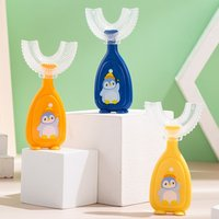 Kids Soft Silicone Training Toothbrush Baby Children Dental Oral Care Tooth Brush Tool Baby Kids U Shape Toothbrushes for Babies