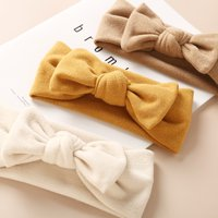 2021 Brand New Newborn Toddler Baby Girls Head Wrap Rabbit Big Bow Knot Turban Headband Hair Accessories Baby Gifts for 0-2Y
