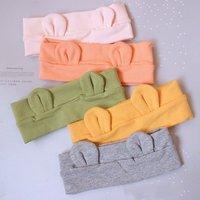 Newborn Headband Cotton Solid For Girl bear Ear Hairbands Turban Knot Headband Kids Accessoire