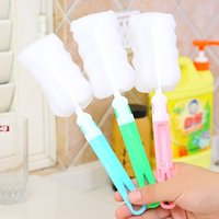 1pc Random Color Water Bottle Thermos Cleaning Tools Long Handle Sponge Brushes Non-toxic Bbay Feeding Bottle Brushes