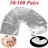 50/100 Pairs Eyelash Extension Patches Under Eyelid Isolation Nonwoven Collagen Hydrogel Care Pad Grafting Eyelash Eye Patch