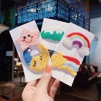 Korean Cartoon Wool Hair Pins For Girls Handmade Hair Accessories Baby Clip Kids Hair Styling Tools Ins Barrettes Headddress