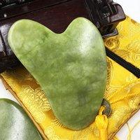 Natural Jade Guasha Massager Stone Gua Sha Board Beauty Tool Health Care Guasha Scraper Face Lifting Massage Meridian Scraping