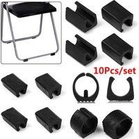 4/10pcs Hot Chair Leg Pad Damper Stool Anti-Front Tilt Pipe Clamp U Shaped Floor Glides Tubing Caps Durable Tube Rear Pad Floor