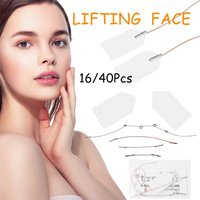 16/40Pcs / Set Face Neck Lift Tapes Invisible Thin Face Facial Stickers V-Shape Face Lift Skin Tighten Anti-wrinkle Sticker