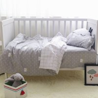 3pcs Cotton Crib Bed Linen Kit For Boy Girl Cartoon Baby Bedding Set Includes Pillowcase Bed Sheet Quilt Cover Without Filler