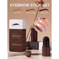 5 pairs Eyebrow Stamp Shaping Kit Waterproof Brow Powder Stamp with 10 Reusable Stencils Eyebrow Definer for Women Fast Delivery