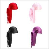 Men Women Silk Satin Breathable Silky Durag 360 Wave Cool Bandana Hat Turban