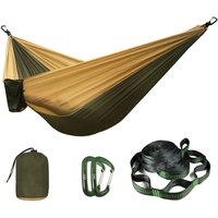 210T Nylon Parachute Hammock Light Weight Outdoor Camping Portable Single Hammock with hammock Tree strap and Aluminum carabiner