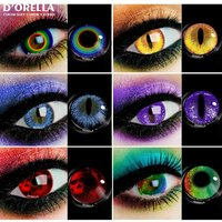D'ORELLA 1 Pair(2pcs)Color Contact Lenses For Eyes Anime Cosplay Colored Lenses Multicolored Lenses Contact Lens Beauty Makeup