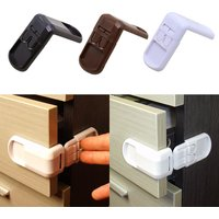 5Pcs/Lot Baby Safety 90° Right Angle Drawer Cabinet Corner Lock Drawer Door Security Product Child Finger Protector