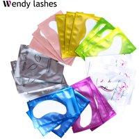 50/100 Pairs High Quanlity Eyelash Pad Gel Patch Grafting Eyelashes Under Eye Patches For Eyelash Extension Paper Sticker