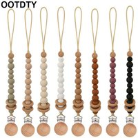 Silicone Baby Anti-drop Chain Pacifier Clips Infant Nipple Appease Soother Chain Clips Dummy Holder