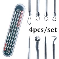Newest Dual Heads Acne Needle Blackhead Blemish Squeeze Pimple Extractor Remover Spot Cleaner Beauty Skin Care Tool 4pcs/set