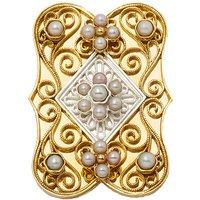 Goettgen Wechselaufsatz 925 Silber Perle für grosse Trachten-Schliesse