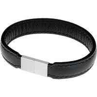 Ernstes Design Armband, Leder schwarz, mit Magnetverschluss