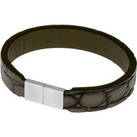 Ernstes Design Armband, Leder khaki, mit Magnetverschluss