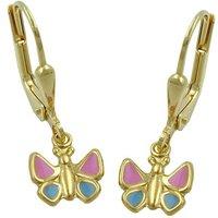 SIGO Ohrringe Brisur, Schmetterling, Gold 375