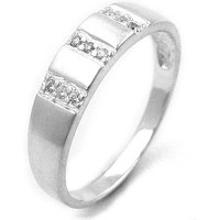 SIGO Ring, 9 kleine Zirkonia, 925