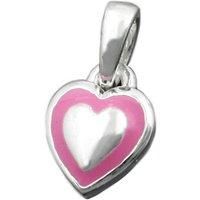 SIGO Anhänger kleines Herz rosa, Silber 925