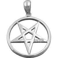 SIGO Anhänger Fünf-Stern Zirkonia rhodiniert Silber 925