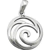 SIGO Anhänger, Muster spiralförmig Silber 925